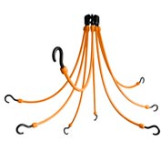 "The Perfect Bungee FE24-8 24"" Flex Web (8-Arm), Orange"