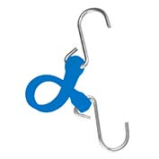 "The Perfect Bungee PBSH12BL - 12"" Bungee Cord with Stainless Steel Hooks - Blue - Pkg Qty 6"