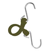 "The Perfect Bungee PBSH12CG - 12"" Bungee Cord with Stainless Steel Hooks - Military Green - Pkg Qty 6"