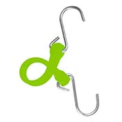"The Perfect Bungee PBSH12G - 12"" Bungee Cord with Stainless Steel Hooks - Safety Green - Pkg Qty 6"