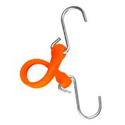 "The Perfect Bungee PBSH12NG - 12"" Bungee Cord with Stainless Steel Hooks - Safety Orange - Pkg Qty 6"