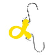 "The Perfect Bungee PBSH12Y - 12"" Bungee Cord with Stainless Steel Hooks - Yellow - Pkg Qty 6"