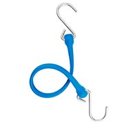 "The Perfect Bungee PBSH18BL - 18"" Bungee Cord with Stainless Steel Hooks - Blue - Pkg Qty 6"