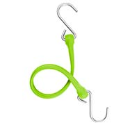 "The Perfect Bungee PBSH18G - 18"" Bungee Cord with Stainless Steel Hooks - Safety Green - Pkg Qty 6"