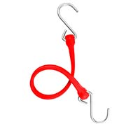 "The Perfect Bungee PBSH18R - 18"" Bungee Cord with Stainless Steel Hooks - Red - Pkg Qty 6"