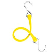 "The Perfect Bungee PBSH18Y - 18"" Bungee Cord with Stainless Steel Hooks - Yellow - Pkg Qty 6"