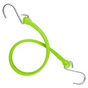 "The Perfect Bungee PBSH24G - 24"" Bungee Cord with Stainless Steel Hooks - Safety Green - Pkg Qty 6"