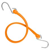 "The Perfect Bungee PBSH24NG - 24"" Bungee Cord with Stainless Steel Hooks - Safety Orange - Pkg Qty 6"