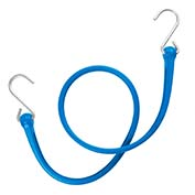 "The Perfect Bungee PBSH36BL - 36"" Bungee Cord with Stainless Steel Hooks - Blue - Pkg Qty 6"