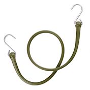 "The Perfect Bungee PBSH36CG - 36"" Bungee Cord with Stainless Steel Hooks - Military Green - Pkg Qty 6"