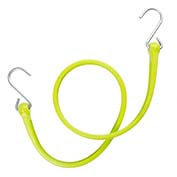 "The Perfect Bungee PBSH36G - 36"" Bungee Cord with Stainless Steel Hooks - Safety Green - Pkg Qty 6"