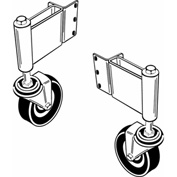 Adjust-A-Gate AG22001R Swivel Ground Gate Wheel, Right Gate Opening, White