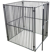 "Lucky Dog European Style Modular Dog Kennel 72""H x 60""W x 60""L, Black"