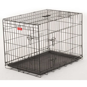"Lucky Dog 2 Door Dog Training Crate 18""W x 21""H x 24""L, Black"