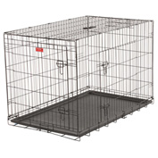 "Lucky Dog 2 Door Dog Training Crate 30""W x 33""H x 48""L, Black"