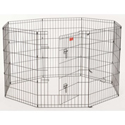"Lucky Dog Heavy Duty Dog Exercise Pen With Stakes 24""W x 36""H, Black"