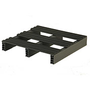 JiFram Rackable Extruded Plastic Pallet 05000180 - 24x24, Two-Way Entry, 1000 Lb. Fork Capacity