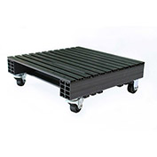 JiFram Rackable Extruded Plastic Pallet 05000246 With Casters - 24x24, 1000 Lb. Fork Capacity