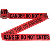 "300' X 3"" Red ""Danger Do Not Enter"" Tape, 1 Roll"