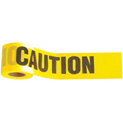 "1,000' x 3"" Yellow ""Caution"" Tape, 1 Roll"