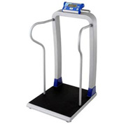 Doran DS7100 Digital Bariatric Scale 1000 x 0.1lb/454 x 0.05kg With Handrails, Wheels