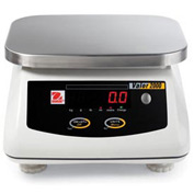 "Ohaus V21PW6 AM Valor Washdown Portioning Digital Scale 15lb x 0.002lb 9-1/4"" x 7-1/4"" Platform"