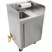 John Boos MHS-2624 Mobile Hand Wash Sink