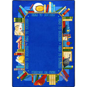 "Joy Carpets Read To Succeed™ Classroom Carpets 3'10"" x 5'4"", Multi - 1438B"