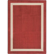"Joy Carpets Portrait™ Classroom Carpets 3'10"" x 5'4"", Wine - 1479B-01"