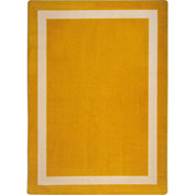 "Joy Carpets Portrait™ Classroom Carpets 3'10"" x 5'4"", Goldenrod - 1479B-02"