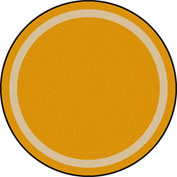 "Joy Carpets Portrait™ Classroom Carpets 5'4"" Round, Goldenrod - 1479H-02"