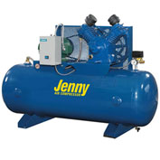 Jenny® Horizontal Stationary Compressor GT5B-80-230V, 1PH, 5HP, 175 PSI, 80 Gal