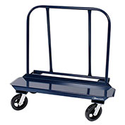 """DRYWALL CART - 12"""" X 48"""" DECK W/ 8"""" MOLD ON RUBBER CASTERS (4 SWIVEL)"""