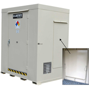 Justrite Non-Combustible Outdoor Chemical Storage Building 911061 - 6-Drum, Explosion Relief Panels