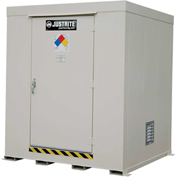 Justrite Non-Combustible Outdoor Chemical Storage Building 911090 - 9-Drum
