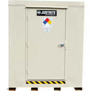 Justrite 4-Hour Fire-Rated Chemical Storage Building 913161 - 16-Drum, Explosion Relief Panels