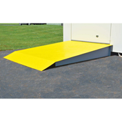Justrite Steel Loading Ramp 915001 - for 2 Drum (52 Cu Ft) Chemical Storage Buildings