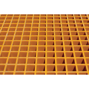 Justrite Fiberglass Floor Grating with Sump Liner 915209 - for 12 Drum Chemical Storage Buildings