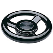 "JW Winco - 10MED5/A - Plastic, Large Hub 3-Spoked Handwheel w/o Handle - 4.92"" Dia x 10mm Bore"