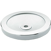 "JW Winco - 10MF06/A - Aluminum Solid Disk Handwheel w/o Handle - 4.92"" Dia x 10mm Bore"
