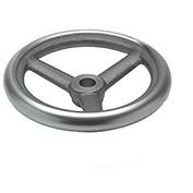 "JW Winco - 10MN81/A - Cast Iron Spoked Handwheel w/o Handle - 3.15"" Dia x 10mm Bore"