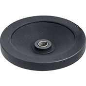 "JW Winco - 14KE64/ADR - Black Clutch Handwheel w/Frict Bearing w/o Handle 5.51""D-14mm Bore & Keyway"