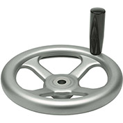 "JW Winco - 14ML82/D - Stainless Spoked Handwheel w/ Rev Handle - 7.87"" Dia x 14mm Bore"
