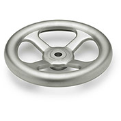 "JW Winco - 17ML83/A - Stainless Spoked Handwheel w/o Handle - 9.84"" Dia x 17mm Bore"