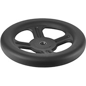"JW Winco - 17MZ49 - Spoked Handwheel With Round Bore - 9.84"" Dia x 17mm Bore"
