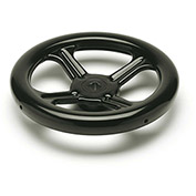 "JW Winco - 17QZ49 - Spoked Handwheel With Square Bore - 9.84"" Dia x 17mm Square Bore"