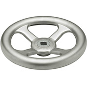 """JW Winco - 19QL84/A - Stainless Spoked Handwheel w/o Handle - 12.40"""" Dia x 19mm Square Bore"""