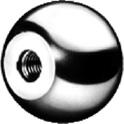J.W. Winco DIN319-ST Steel Ball Knobs W/Blind Bore 50mm Diameter mm Length 20
