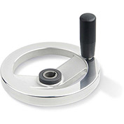 "JW Winco - 22KE77/DDR - Safety Clutch Handwheel - Frict Bearing w/ Handle 9.84""D-22mm Bore & Keyway"