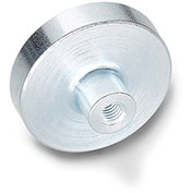 """J.W. Winco 50.2-ND-6-M3 Retaining Magnet Assembly Disc-Shaped w/ Threaded Bushing, .24"""" Dia, Steel"""
